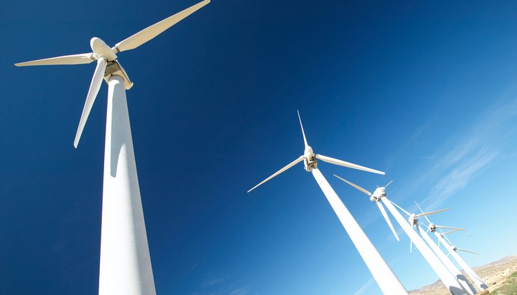 Wind turbines can be as tall as a 20-story building and have three 200-foot-long blades. (See Reference 4)