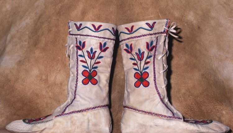 Traditional moccasin styles are unique to each tribe.