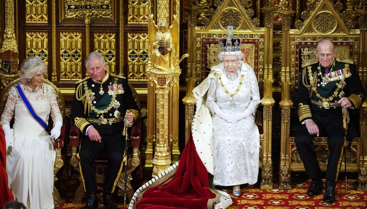 The British monarch officially opens parliament each year.