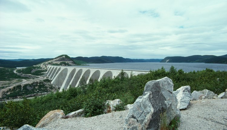 Geological engineers help design structures like dams.
