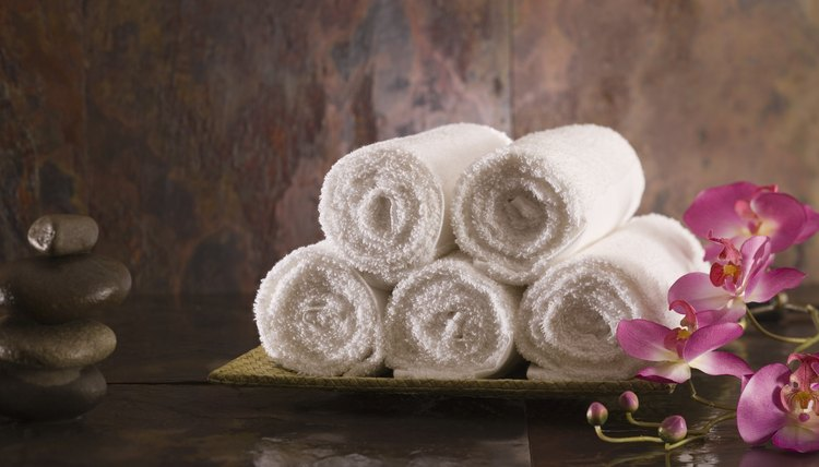 A towel's softness comes from its looped weave.