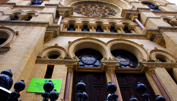 The historic Eldridge Street Synagogue in New York is a National Historic Landmark.