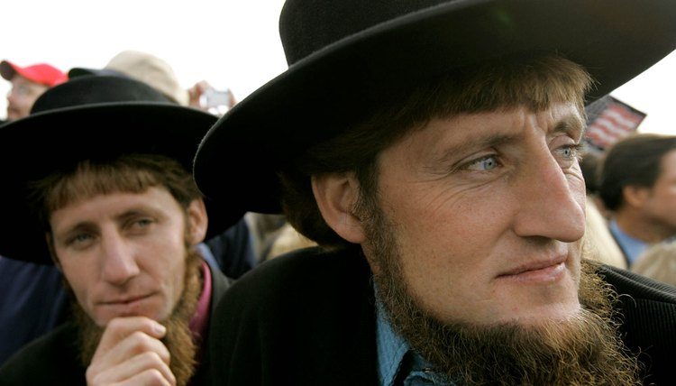 In traditional Amish society, a married man does not cut his beard.
