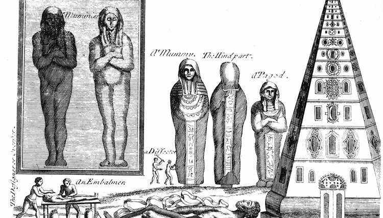 Mummification in ancient Egypt included an embalming process.