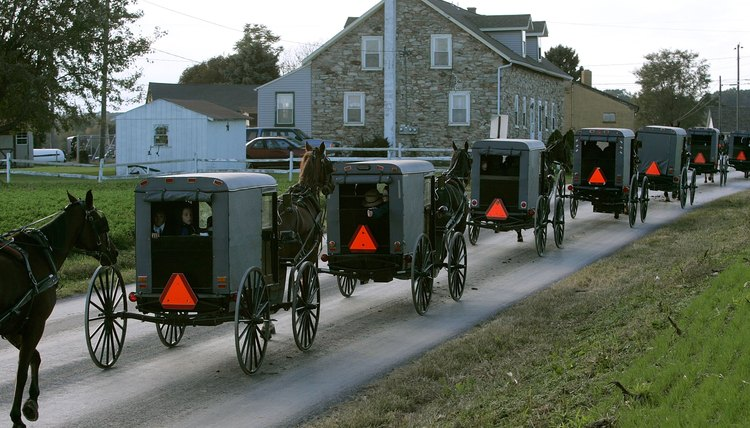 The whole community is involved in Amish funerals.