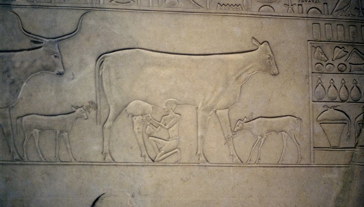 Divine symbols were often portrayed on sarcophagi.