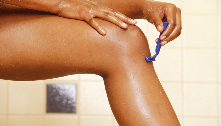 Rinse your razor after each shave so you don't nick your knee.