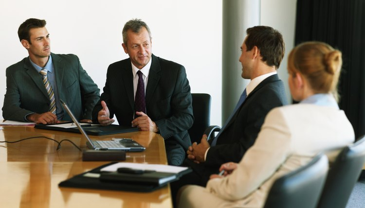 Group of business people at conference table