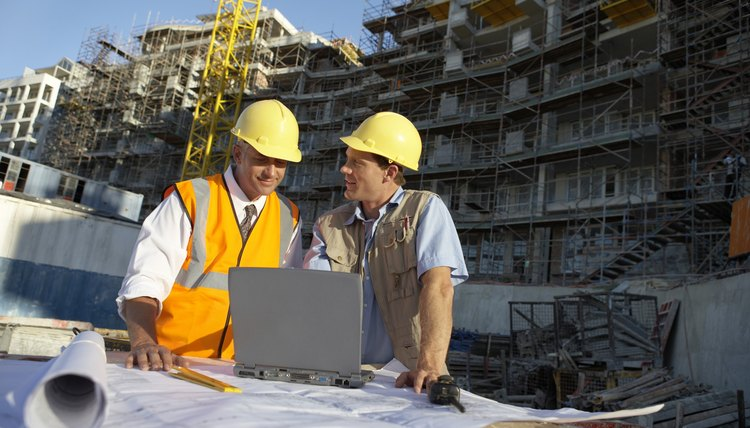 Land surveyors frequently play a role in construction projects.