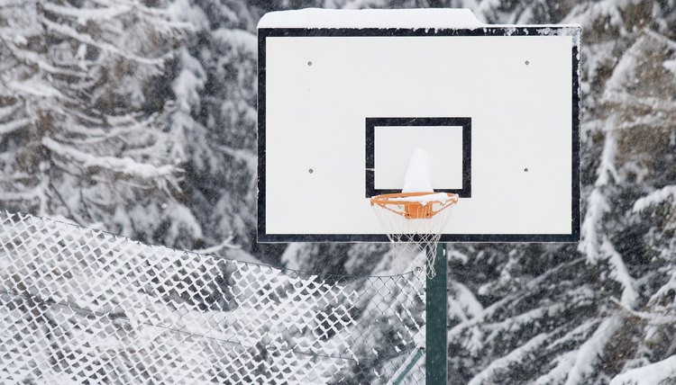 Filling a Waterbase Basketball Hoop with Antifreeze
