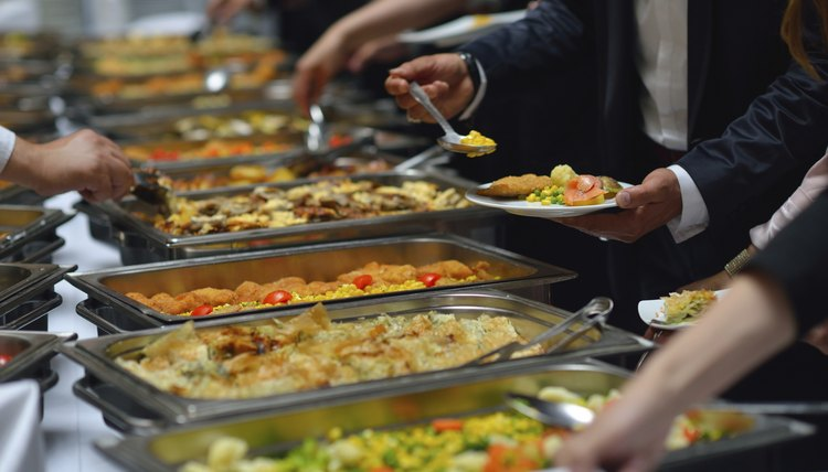 Keep hot foods hot and cold foods cold on the buffet.