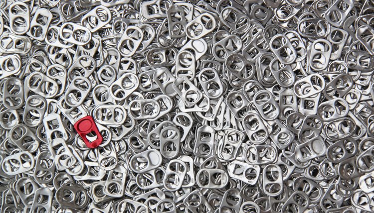 Aluminum can tabs are recycled for scrap value by some non-profit organizations.