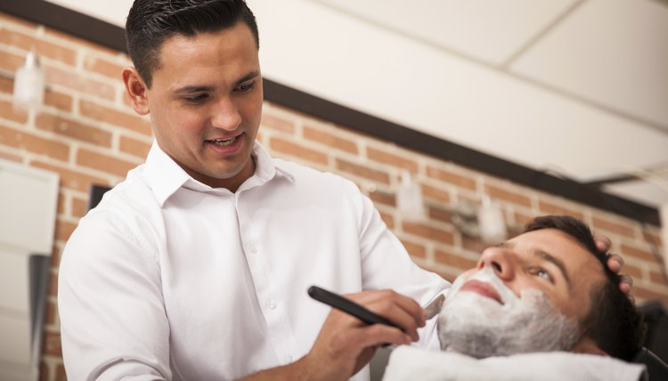 Tip the barber for extra services such as a shave.