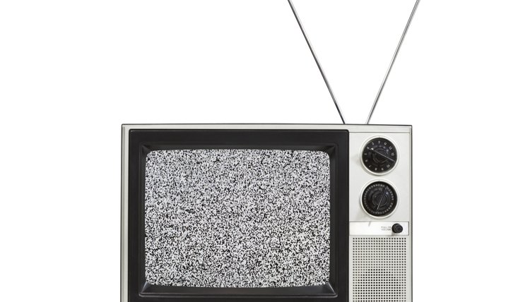 Tv with antenna.