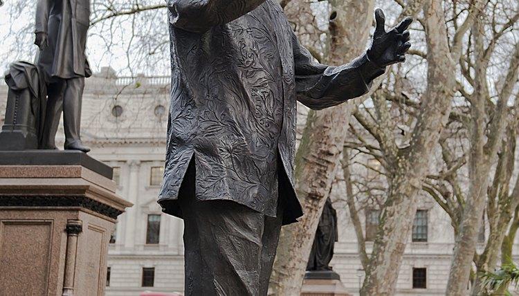Statue of Nelson Mandela.