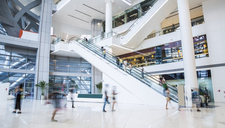 busy shopping mall