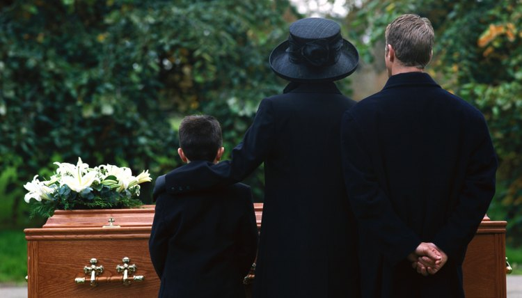 A family mourn the passing of a child