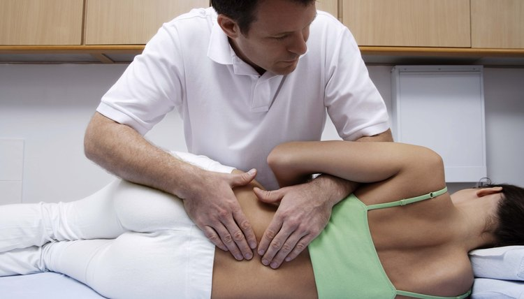 Doctor applying treatment to patient