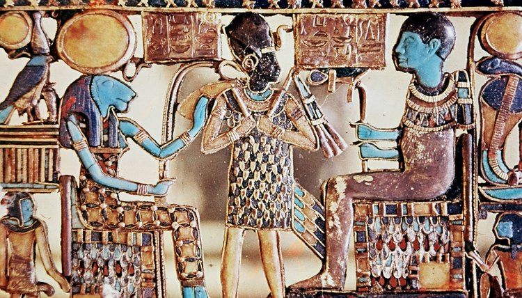 Ancient Egyptians made lavish offerings of food to the gods, which were then consumed by priests.