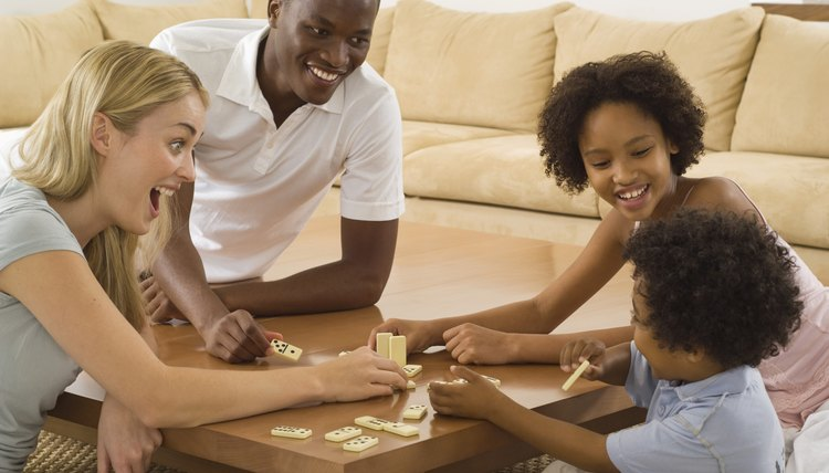 Dominoes can teach toddlers beginning number-sense skills.