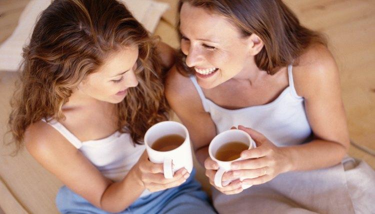 Women talking with coffee