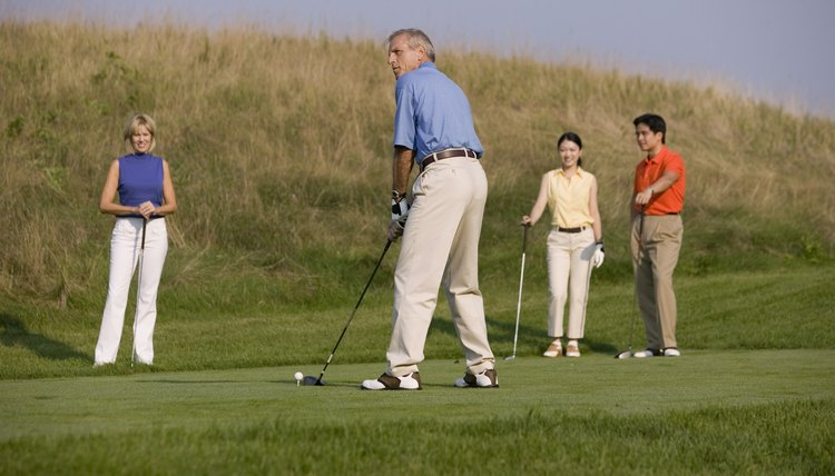 Playing golf is a great way to burn calories while having fun outdoors.