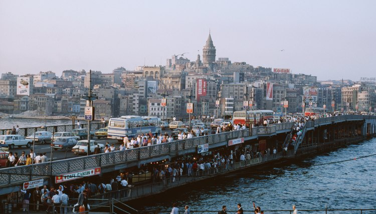 A view of modern Istanbul shows both ancient and modern architecture.