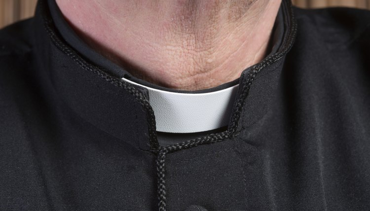 Priest clerical collar