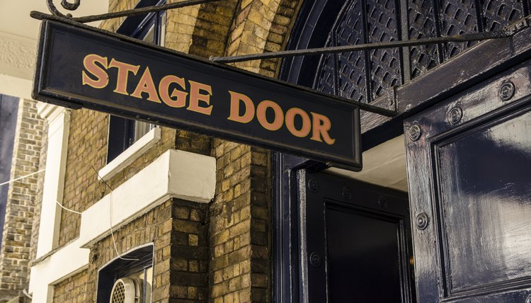 Theater stage door entrance