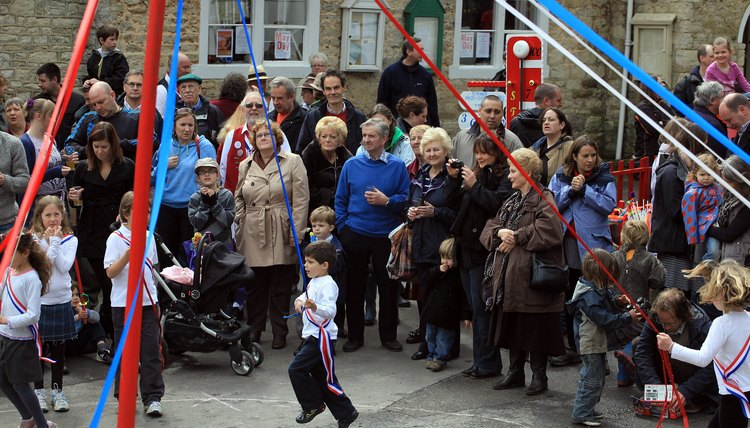 May Day dances around the maypole are a pagan tradition as popular in Elizabethan England as they are today.
