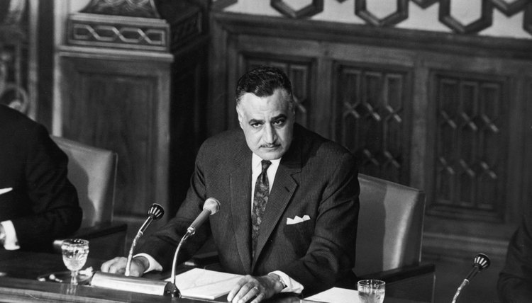 Gamal Abdel Nasser was president of Egypt and the United Arab Republic.