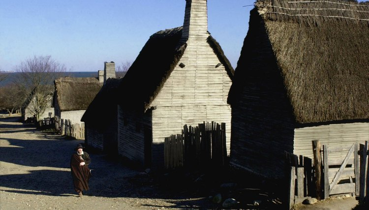 Puritan Pilgrims lived in simple houses, but ate well.
