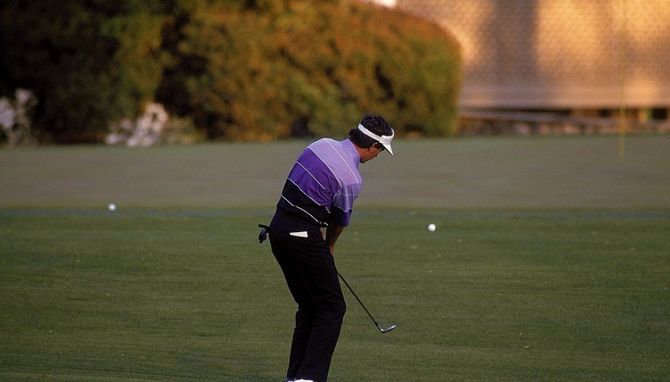 Augusta native Larry Mize chips in a birdie for the win in the second playoff hole of the 1987 Masters.
