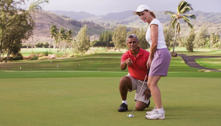 Have a partner help check your alignment on the putting green.