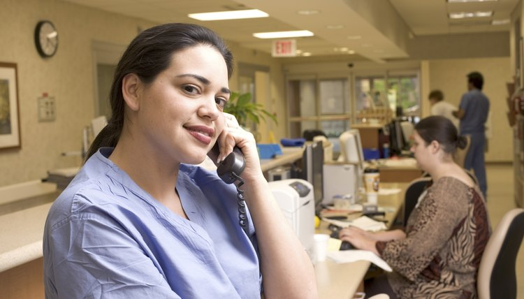 Healthcare professional on telephone
