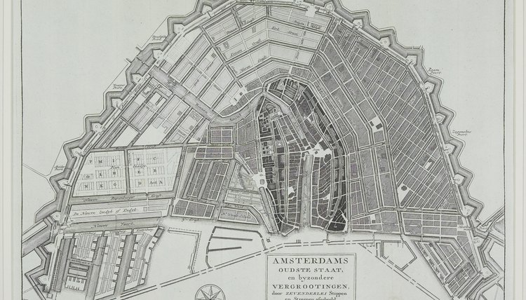 Antique Map of Amsterdam