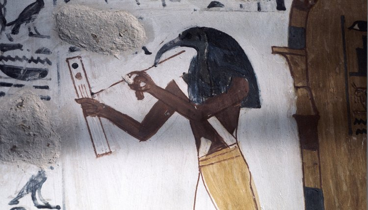 The god Thoth played a prominent role in ancient Egyptian mythology.