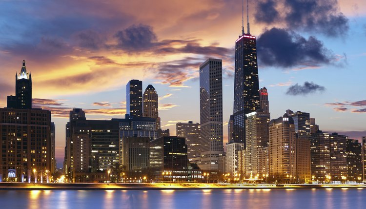 Chicago's skyline at night