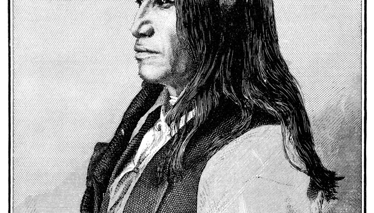 Portrait of the chief of Sioux.