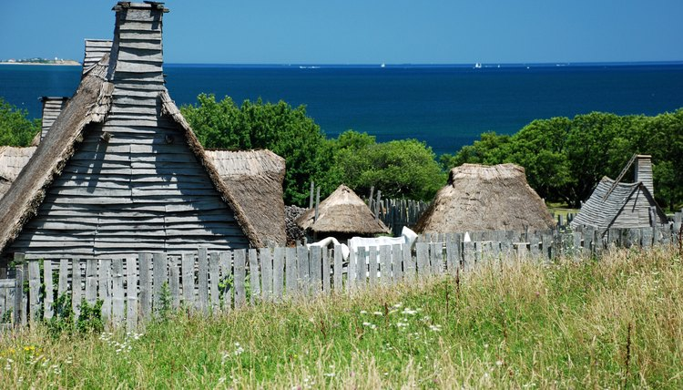 Homes in a Plimoth plantation.