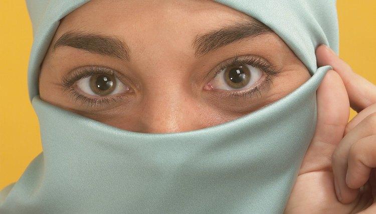 Woman wearing a burka.