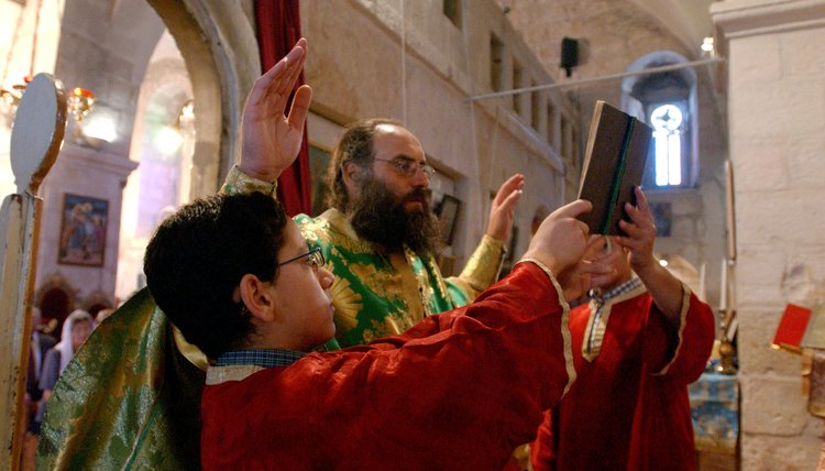 Eastern Orthodox Christians believe the church has authority over the Bible.