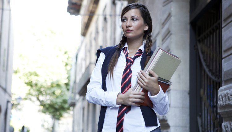 School uniforms are often intended to deter inappropriate attire.