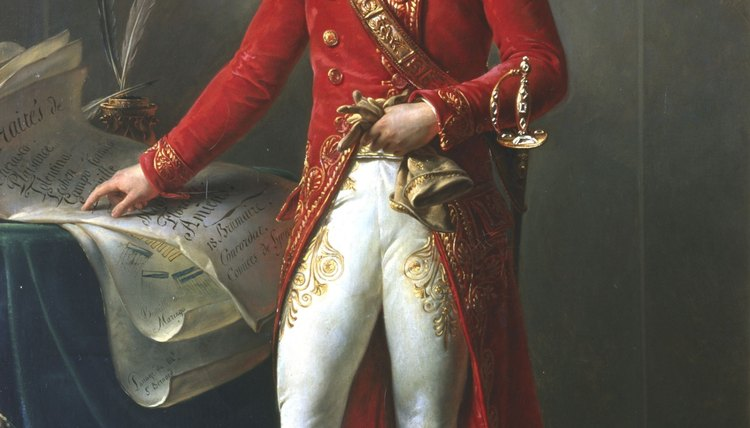 Portrait of Napoleon.