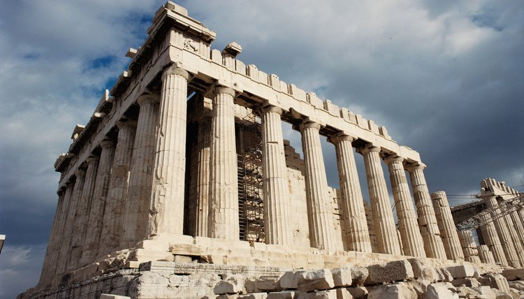 The Greeks Used Limestone Blocks In Temples And Monuments