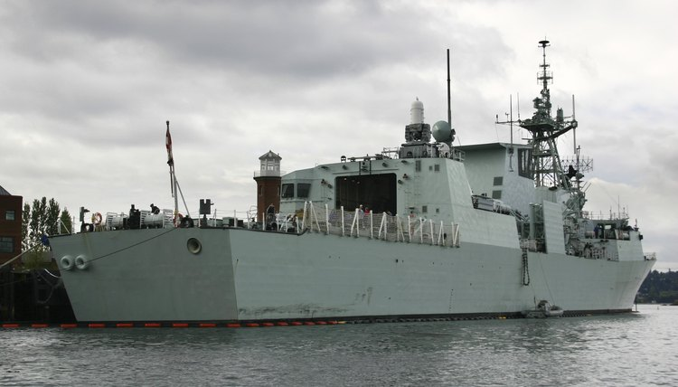 A Canadian naval vessel.