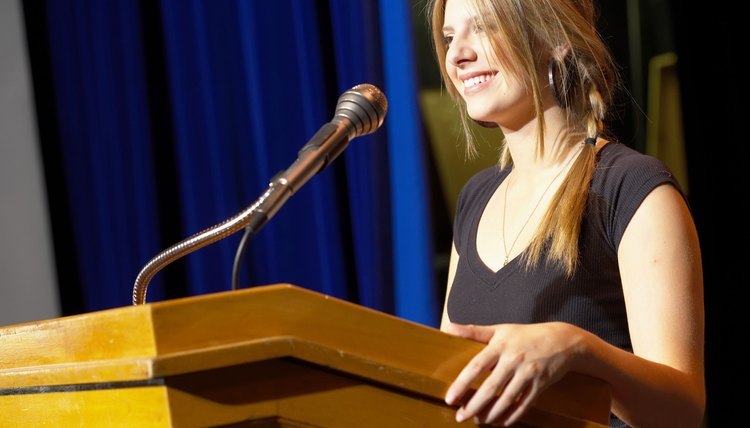 Don't let stage fright negatively affect your college presentation.