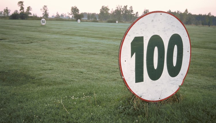 Some driving ranges offer targets to help players with accuracy and figuring out the distance that they can hit their clubs.