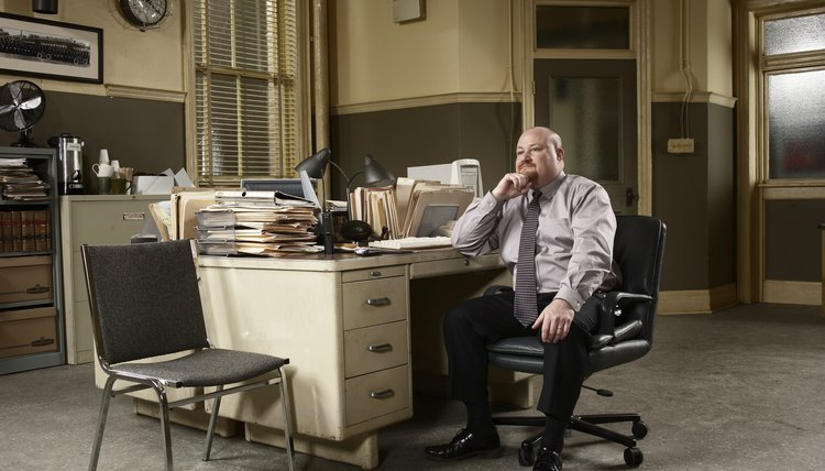 Man sitting at desk in office