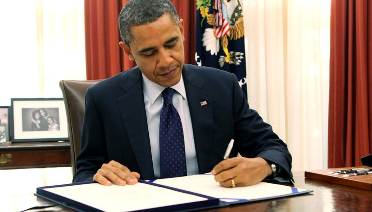 President Barack Obama Signs Payroll Tax Bill